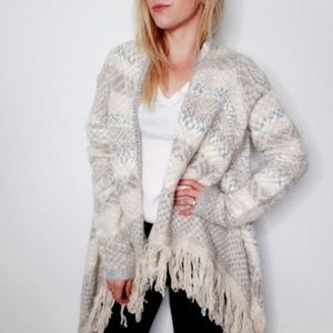 Romeo & Juliet Couture Boho Tribal Open Cardigan